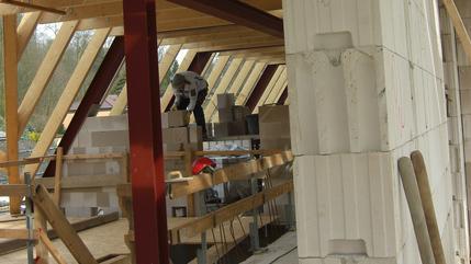 Ausmauerung Stahlträger Dachgeschoss | Kaiserhof Porta Westfalica
